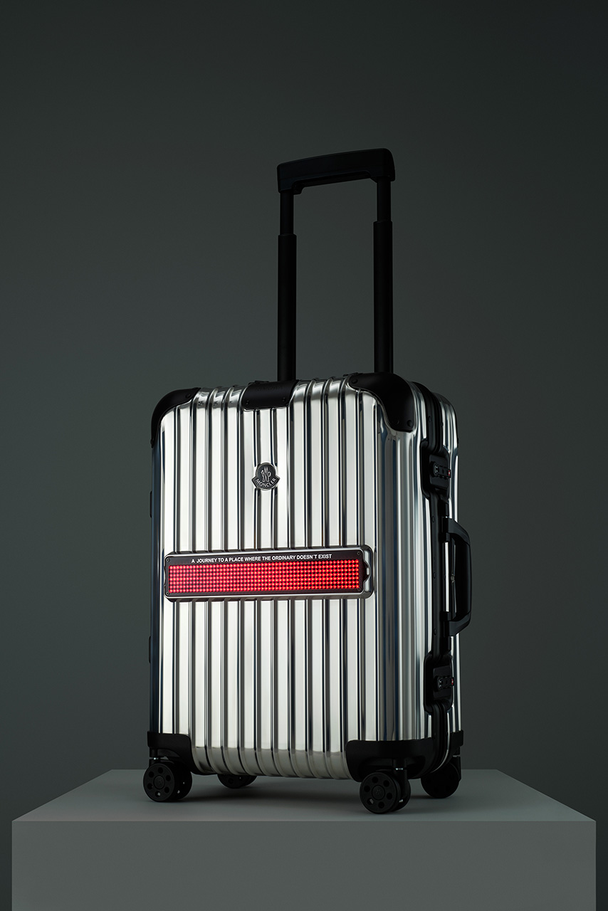 Moncler x Rimowa - Reflection collection - LED screen